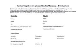 kaufvertrag vordruck - Pkw Kaufvertrag Muster