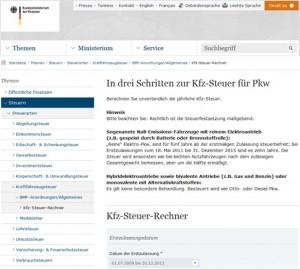 KFZ Steuerrechner