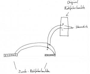 Anschlussplan Zusatz-Rückfahrleuchten